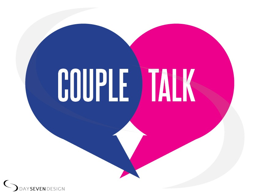 logo couple talk